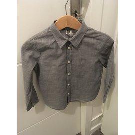 Bonpoint-Bonpoint Jungenhemd-Schwarz,Weiß
