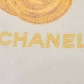 Chanel-Printed Silk Scarf-Multiple colors,Yellow