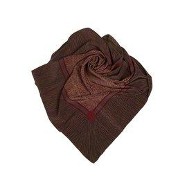 Chanel-Foulard en soie imprimée-Marron,Multicolore,Kaki