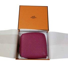 Hermès-Hermès porte-monnaie silk in-Violet