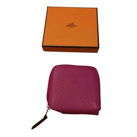 Hermès-Hermès wallet silk in-Purple