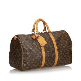 Louis Vuitton-Monogramme Keepall 55-Marron
