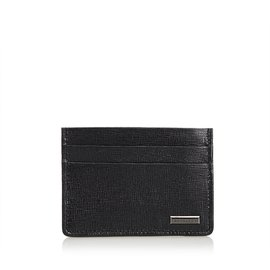 Burberry-Leather Pass Case-Black