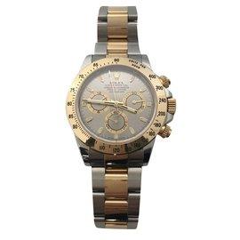 Rolex-Superb Rolex Men's Daytona Gold and Steel Bracelet Watch in very good condition!-Silvery,Golden,Grey