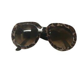 Dolce & Gabbana-Des lunettes de soleil-Imprimé léopard