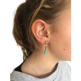 Chanel-Earrings-Golden