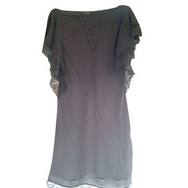 Vanessa Bruno-Dress - silk and lace tunic, Vanessa Bruno-Grey