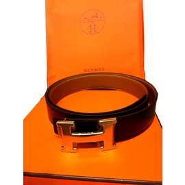 Hermès-Ceinture neuve-Marron,Beige ... 468c3ab6419