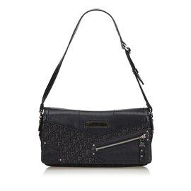 Dior-Oblique Jacquard Baguette-Noir