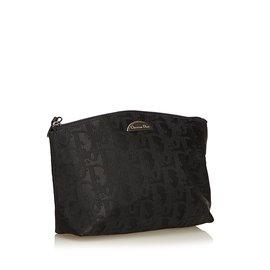 Dior-Pochette Jacquard Oblique-Noir