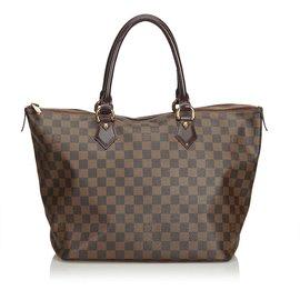 Louis Vuitton-Niveau Damier Saleya MM-Marron