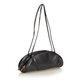 Dior-Sac à bandoulière en cuir verni oblique-Noir