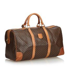 Céline-Macadam Duffle Bag-Brown