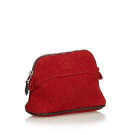 Hermès-Bolide Trousse de Voyage-Noir,Rouge