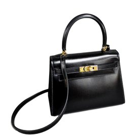 Hermès-MINI KELLY SELLIER-Noir