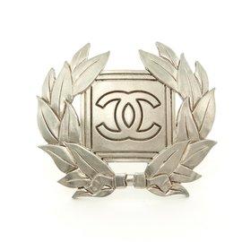 Chanel-ARGENT CC LAURELS-Argenté