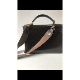 Hermès-Handbags-Dark brown