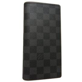 Louis Vuitton-LOUIS VUITTON Brazza Wallet-Black