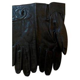 Chanel-Gloves-Dark blue