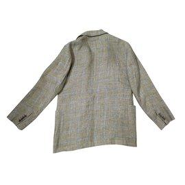 Hermès-Blazers Jackets-Blue,Green