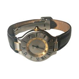 Cartier-Must 21-Noir,Argenté,Doré,Gris