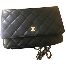 Chanel-Wallet on chain-Black