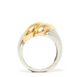 Hermès-godrons argent or T54-Silvery,Golden