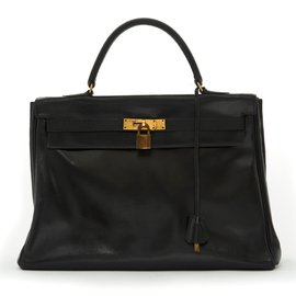 Hermès-KELLY 35 BLACK-Black