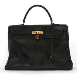 Hermès-KELLY 35 NOIR-Noir