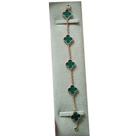 Van Cleef & Arpels-Bracelet Alhambra vintage Van Cleef & Arpels-Vert,Jaune