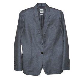 Hermès-Hermès veste laine et cachemire grise superbe-Gris