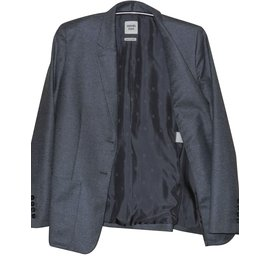 Hermès-Hermès gray wool and cashmere jacket-Grey