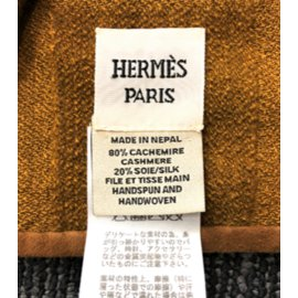 Hermès-Hermes Cashmere and Silk blanket-Brown