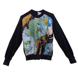 Hermès-Tricots-Noir,Multicolore
