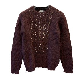 Moncler-Knitwear-Dark red