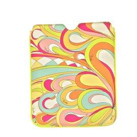 Emilio Pucci-Housse en PVC imprimé-Multicolore