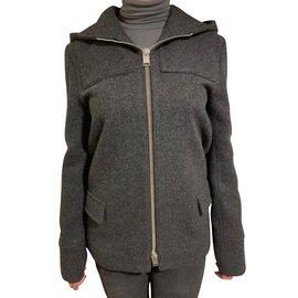 Saint Laurent-Manteaux, Vêtements d extérieur-Gris ... 0e040359b277