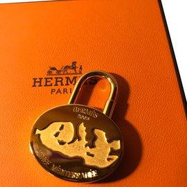 Hermès-Cadenas Édition spéciale 2003 Rare-Doré