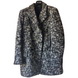 The Kooples-Manteaux, Vêtements d'extérieur-Noir,Blanc,Gris