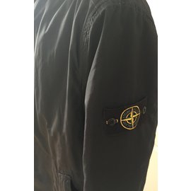 Stone Island-Men Coats Outerwear-Navy blue