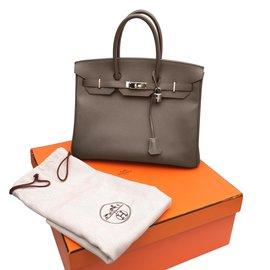 Hermès-Hermès Birkin 35 leather epsom color tow 11718cc2b7484