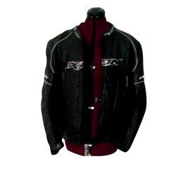 Autre Marque-Blouson de moto cuir 100% avec dorsale et protections intérieures-Noir