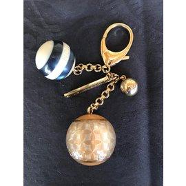 Louis Vuitton-Porte clés Boules Louis Vuitton-Doré