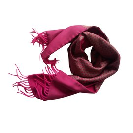 Hermès-lined sided scarf-Fuschia