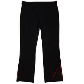 Prada-zipper slacks-Noir