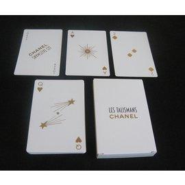 Chanel-Jeu de carte Chanel-Blanc,Doré