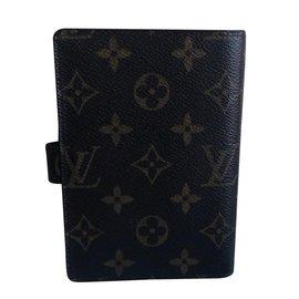 Louis Vuitton-Petit agenda de Groombell-Marron