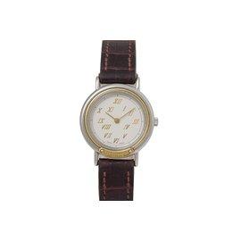 Hermès-Meteor Watch-Marron,Argenté,Marron foncé