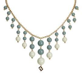 Fendi-Collier de perles-Autre,Gris