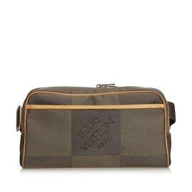 Louis Vuitton-Damier Geant Acrobate Waist Bag-Marron,Gris,Marron clair